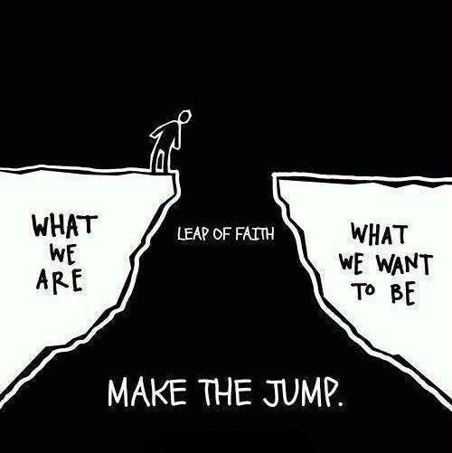 Take the leap.